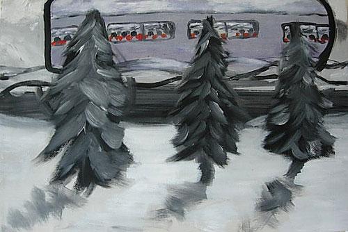 Trees watching Train