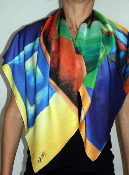 Boxing Reality Silk Scarf